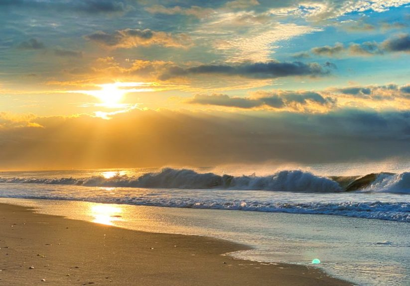breath beach scene