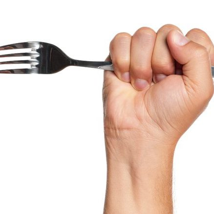 stabbing with a fork